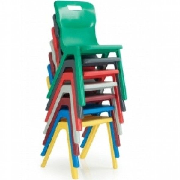 Titan Stackable Plastic School Chairs – One Piece Polyproplene – Fast Delivery – School Furniture